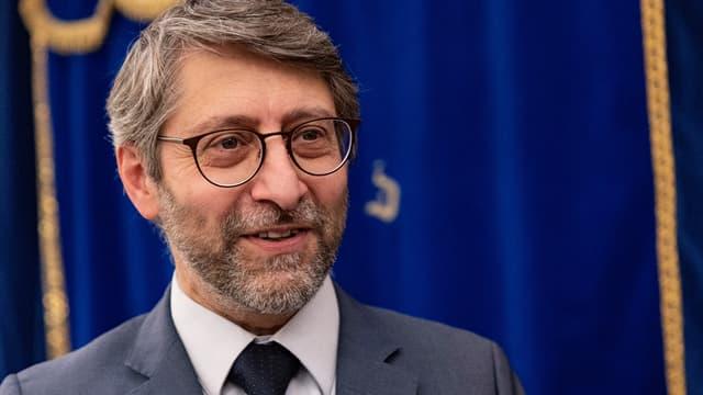 Le grand rabbin de France Haïm Korsia le 6 juin 2021, jour de sa réélection