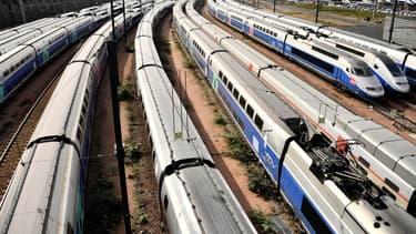 Plus de 60% des conducteurs de trains étaient en grève ce lundi.