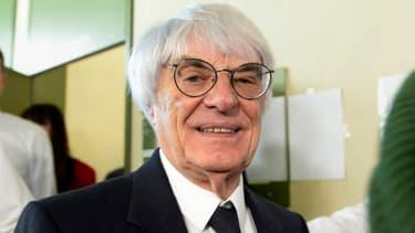 Le patron de la Formule 1, Bernie Ecclestone, ce jeudi au premier jour de son procès devant le tribunal de Munich, en Allemagne.