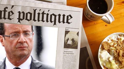 François Hollande le 15 mai 2012, le jous de son investiture.