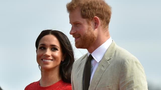 Harry et Meghan en octobre 2018 aux îles Tonga