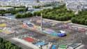 La place de la Concorde transformée en centre sportif pour la journée olympique.