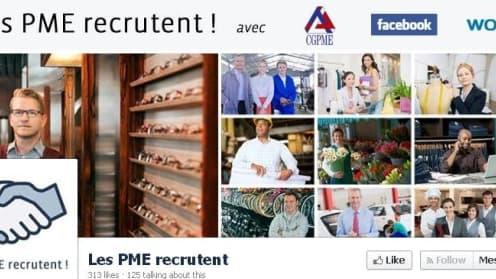"""""""Les PME recrutent"""" est une page dédiée au recrutement dans les PME sur Facebook"""