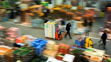 Le marché de Rungis, dans le Val-de-Marne, en pleine activité, le 1er décembre 2017