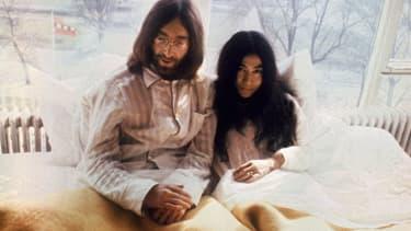 John Lennon et Yoko Ono le 27 mars 1969