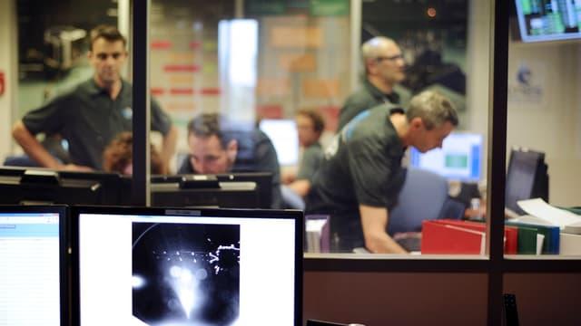 Certains responsables de la Nasa étaient présents ce mercredi en Allemagne, où se trouve le Centre européen d'opérations spatiales.