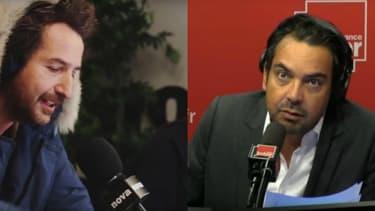 Edouard Baer et Patrick Cohen