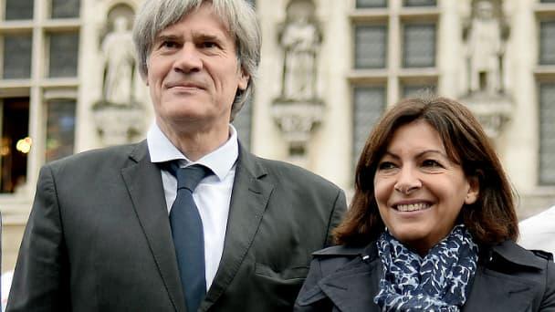 Stéphane Le Foll au côté d'Anne Hidalgo, lors de la semaine du goût en 2014 à Paris