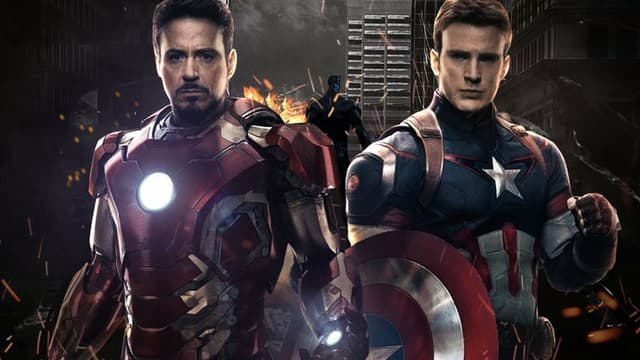 "Robert Downey Jr et Chris Evans, dans ""Captain America: Civil War""."