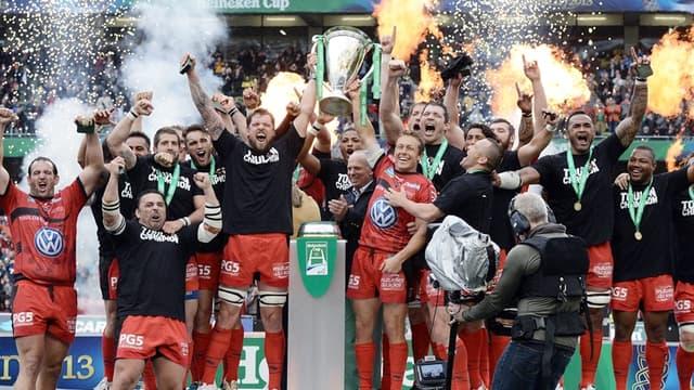 La joie des joueurs de Toulon, champions d'Europe