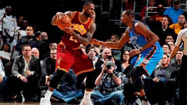 Duels de titans entre LeBron James et Kevin Durant