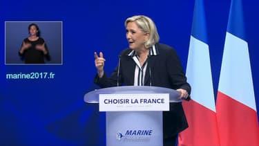 Marine Le Pen était en meeting à Nice ce jeudi soir.