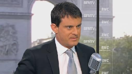 Le ministre de l'Intérieur Manuel Valls, le 17 mai 2013 sur BFMTV