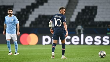 Neymar lors de PSG-Manchester City
