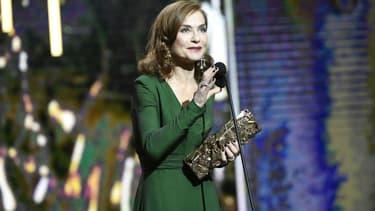 Isabelle Huppert aux César en 2017
