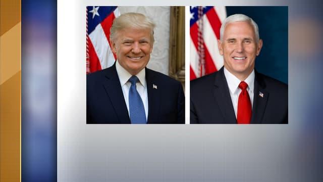 Donald Trump et Mike Pence ont leur portrait officiel.