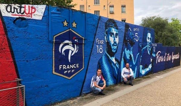 La fresque des champions du monde à Lyon