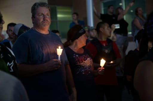 Veillée le 10 juillet 2016 à Dallas à la mémoire des policiers tués
