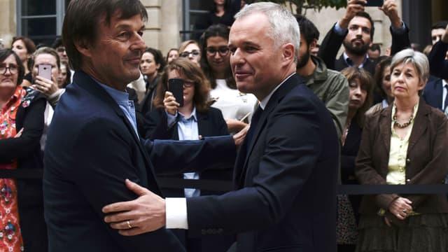Nicolas Hulot et François de Rugy le 4 septembre