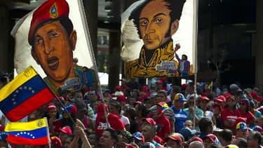 Manifestation en faveur du président élu du Venezuela, Nicolas Maduro