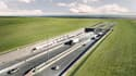 Long de 18 kilomètres et doté de deux tubes pour les trains et de deux autres pour les voitures, cet ouvrage sera le plus long au monde de ce genre, bâti selon cette technique de l'immersion des éléments le constituant.