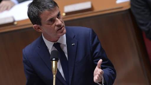 Le Premier ministre Manuel Valls à l'Assemblée Nationale, le 24 juin 2015 à Paris