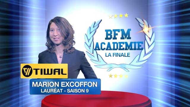 Marion Excoffon est la grande gagnante de la finale de la BFM Académie.