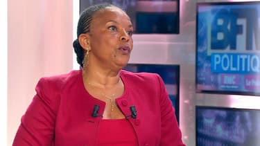Christiane Taubira, la ministre de la Justice sur BFMTV, dimanche dans BFM Politique.
