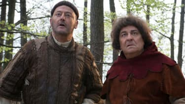 """Jean Reno et Christian dans """"Les Visiteurs: la Terreur"""""""