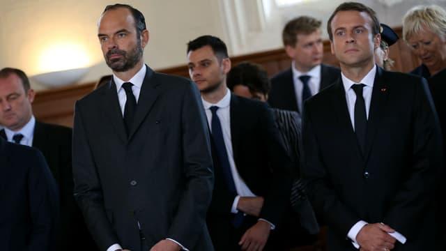 Edouard Philippe et Emmanuel Macron, le 26 juillet 2017.