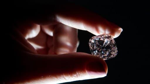 "Le diamant rose ""Le Grand Mazarin"", le 17 octobre 2017."