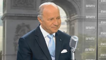 Laurent Fabius ce vendredi matin sur BFMTV.