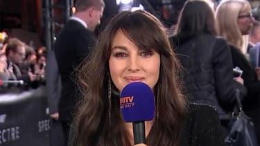 Monica Bellucci sur BFMTV, le 29 octobre 2015