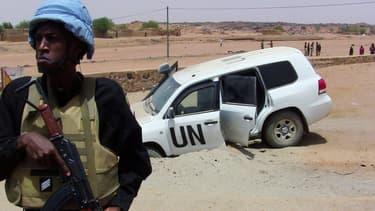 Un Casque bleu dans le nord du Mali. (Photo d'illustration)