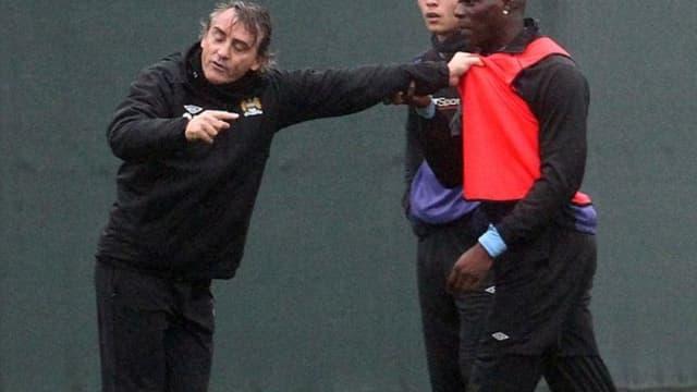 Roberto Mancini et Mario Balotelli