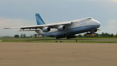 Parmi les avions loués par ICS, des Antonov 124 ici en illustration