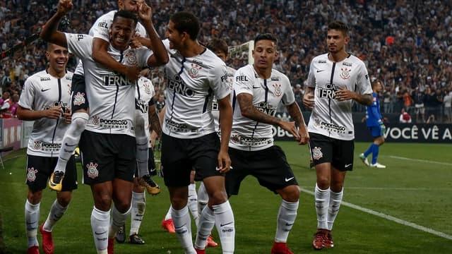 La joie des joueurs de Corinthians