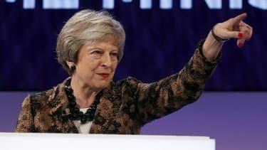 La Première ministre Theresa May à la convention du CBI, le patronat britannique lundi 19 novembre à Londres.