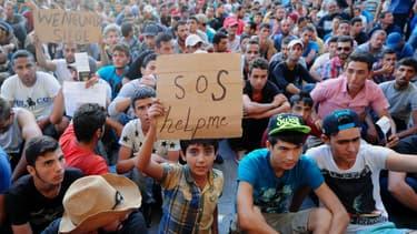 Des migrants en Hongrie le 2 septembre 2015 -