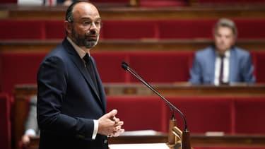 Edouard Philippe le 28 avril à l'Assemblée nationale.