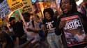 Le mort de Michael Brown, en août à Ferguson, avait déjà suscité l'indignation aux Etats-Unis. Comme ici, lors d'une manifestation à Washington, le 6 septembre.