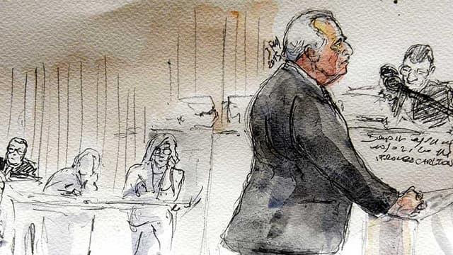 """Dominique Strauss-Kahn à la barre dans le procès dit du """"Carlton de Lille"""""""