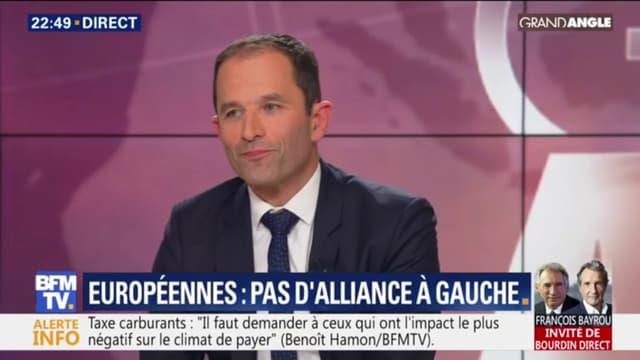 Benoît Hamon, invité sur BFMTV ce mercredi soir.