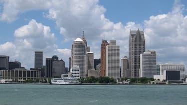 La ville de Detroit dans l'Etat du Michigan
