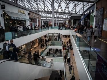 Le centre commercial Confluence à Lyon, le 30 janvier 2021