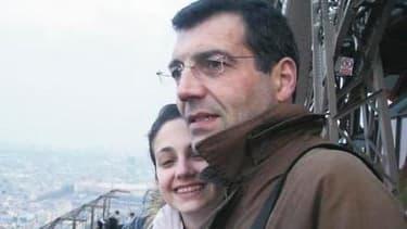 Photo non datée de Xavier Dupont de Ligonnès, avec sa fille Anne.