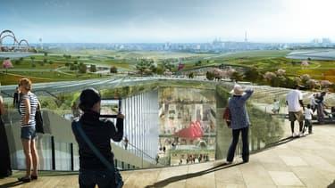 Ce projet hors norme à tous les égards a été réellement imaginé comme un parc d'attraction