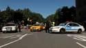 """Barrage policier à New York, dans le cadre des célébrations du 11-Septembre. Barack Obama a déclaré samedi que les Etats-Unis étaient plus forts que dix ans auparavant, au moment des attentats du 11 septembre 2001, et que les Américains """"continueraient"""" d"""