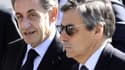 Nicolas Sarkozy et François Fillon le 15 octobre 2016 à Nice.