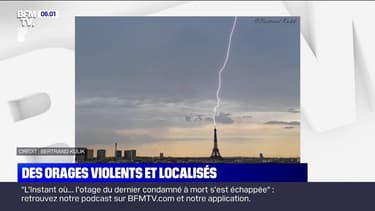 De violents orages ont frappé une partie de la France